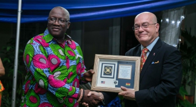 Prof. William Ampofo receives PEPFAR Award