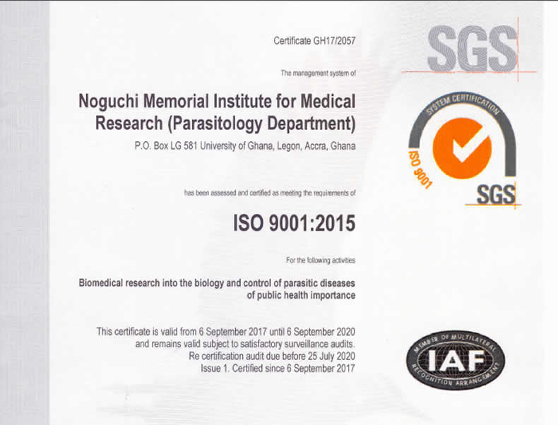 Noguchi Medical Research Institute | parasitology staff